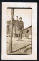 RB 946 - Early Ethnic Real Photo Postcard - Boy Exercising On Bar - USA Homestead - Children