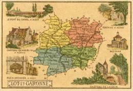 Lot Et Garonne  Chromos 9cm Sur 7cm Départemet Dos Scané - Non Classés
