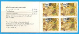 SVIZZERA - Pro Juventute 1989 - Libretto - Ungebraucht