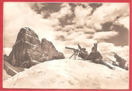 CARTOLINA NV ITALIA - MILITARI - ALPINI - Postazione In Alta Montagna Con Strumenti Di Osservazione - 10 X 15 - PERFETTA - Manovre