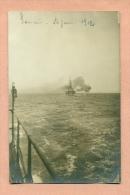 CARTE PHOTO - MARINE DE GUERRE FRANCAISE  /  MANOEUVRES DE L'ESCADRE LEGERE  : JUIN 1912 - - Manoeuvres