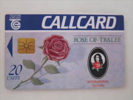 Chip Phonecard,Rose Of Tralee,international Festival,used - Irlanda