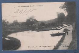 77 SEINE & MARNE - CP ANIMEE VIGNELY - L'ECLUSE - J SARRAZIN PHOT EDIT  ESBLY N°4 - PIAT EDIT - ECRITE EN 1918 - Esbly
