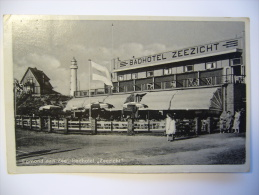 """EGMOND Aan Zee: Badhotel """"Zeezicht"""" Sent 1945 Per Luchtpost Par Avion From Nederland To Czechoslovakia - Egmond Aan Zee"""