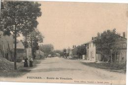 Carte Postale Ancienne De PAUVRES - Autres Communes