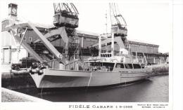 Batiment Militaire Marine Nationale  La Fidele Gabare 1-9-1968  Poupe  Tribord Equipage  Marius Bar - Guerre