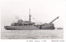 Batiment Militaire Marine Nationale  La Fidele Gabare 11-1970  Equipage  Marius Bar - Warships
