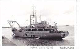 Batiment Militaire Marine Nationale  La Fidele Gabare 9-2-1971 Equipage  Marius Bar - Guerre
