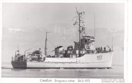 Batiment Militaire Marine Nationale M 671 Camelia Dragueur Cotier 28-2-1972  Equipage  Marius Bar - Guerre