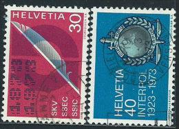 Svizzera 1973 Usato - Mi.989/0  Yv.922/3 - Usati