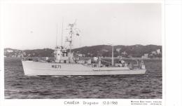 Batiment Militaire Marine Nationale M 671 Camelia Dragueur Cotier 12-3-1968  Equipage  Marius Bar - Guerre