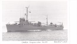 Batiment Militaire Marine Nationale M 671 Camelia Dragueur Cotier  9-6-1971 Equipage  Marius Bar - Guerre