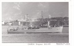 Batiment Militaire Marine Nationale M 671 Camelia Dragueur Cotier  22-3-1971 Equipage  Marius Bar - Guerre
