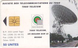 Togo, TOG-21, 50 Units, Earth Station - New Design, Satelittes, 2 Scans   Chip : GEM1