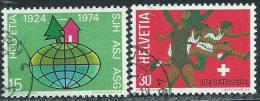 Svizzera 1974 Usato - Mi.1017/8  Yv.947/8 - Usati