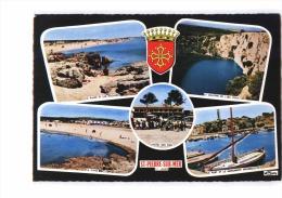 11 FLEURY (envs Coursan) St Pierre Sur Mer, Multivue, Plage, Gouffre De L'Oeil Doux, Port, Ed CIM 1C, CPSM 10x15, 1964 - Non Classés