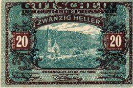 20 HELLER XF AUNC AUSTRIA 1920 GUTSCHEIN - Autriche
