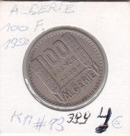 100 Francs Copper-nickel République Francaise 1950 - Algérie