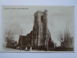 GB GEORGE V 1929 POSTCARD ST. MICHAEL`S CHURCH MAIDSTONE - England