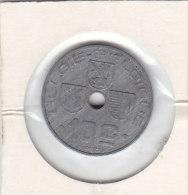 10 Centimes  Zinc Léopold III 1943  FL/FR - 1934-1945: Leopold III