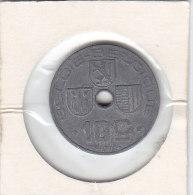 10 Centimes  Zinc Léopold III 1944  FL/FR - 02. 10 Centimes
