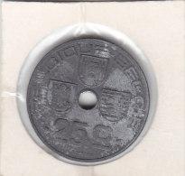 25 Centimes  Zinc Léopold III 1946  FR/FL - 1934-1945: Leopold III