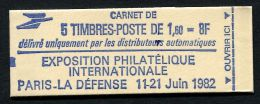 Carnet  Sabine  PHILEXFRANCE 82  N° Yvert: 2155 C1a - Carnets