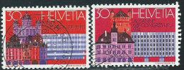 Svizzera 1974 Usato - Mi.1027/8  Yv.956/7  1dente Corto - Usati