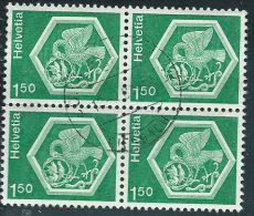Svizzera 1974 Usato - Mi.1037  Yv.970  Bloc 4x - Usati