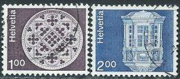 Svizzera 1974 Usato - Mi.1035w;1038w  Yv.968a;971a  Senza Fili Di Seta - Usati
