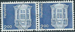 Svizzera 1974 Usato - Mi.1038w  Yv.971a  Coppia  Senza Fili Di Seta - Usati