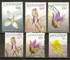 Slovenie Slovenia 200- Fleurs Flowers Obl - Slovenië