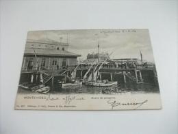 Montevideo Uruguay MUELLE DE PASSAGEROS  BARCHE A VELA 1904 - Uruguay