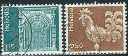 Svizzera 1975 Usato - Mi.1057;1068  Yv.991;993 - Usati