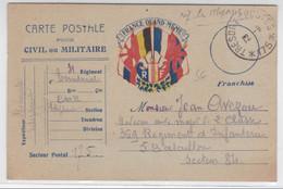 """CARTE POSTALE FM """"FRANCE QUAND MEME"""" Du SP 175 Pour Le SP 84 - Marcophilie (Lettres)"""