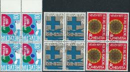 Svizzera 1977 Usato - Mi.1087/9  Yv.1021/3  Annullo1°Giorno  Bloc 4x - Usati