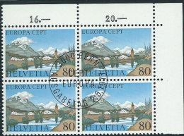 Svizzera 1977 Usato - Mi.1095  Yv.1025  Bloc 4x  Annullo1°Giorno - Usati
