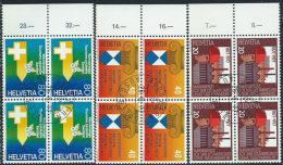 Svizzera 1977 Usato - Mi.1109/1  Yv.1030/2  Blocs 4x  Annullo1°Giorno - Usati
