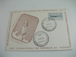 Xv Giornata Del Francobollo 1973 La Lanterna Genova - Postzegels (afbeeldingen)