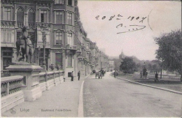 LIEGE 131  BOULEVARD FRERE ORBAN  1907 - Luik