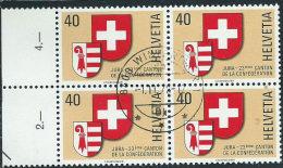 Svizzera 1978 Usato - Mi.1141  Yv.1071  Bloc 4x - Usati