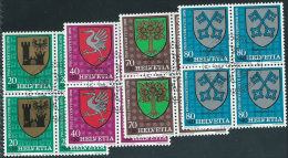 Svizzera 1978 Usato - Mi.1142/5  Yv.1072/5  Blocs 4x  Annullo1°Giorno - Usati