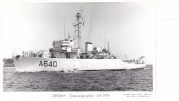 Batiment Militaire Marine Nationale A 640 Origny Oceanographique Année 5-9-1974  Equipage  Marius Bar - Warships