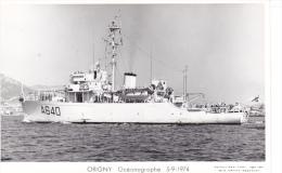 Batiment Militaire Marine Nationale A 640 Origny Oceanographique Année 5-9-1974 Profil   Equipage  Marius Bar - Warships