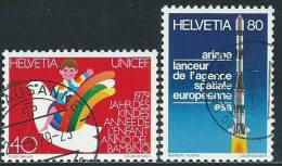 Svizzera 1979 Usato - Mi.1162;1164  Yv.1093;1095 - Usati