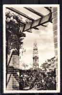 PORTO. RECANTO DO JARDIM JULIO CHAGAS E TORRE DOS CLERIGOS  CIRCULADA  1959 COM SELO - Porto