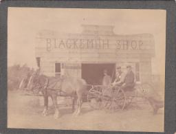 Photo; Wagon At Blacksmith Shop , KELIHER , Saskatchewan , Canada , 1880-90s - Saskatchewan