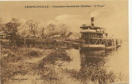 """Leopoldville Chantiers Navals De L Unatra  Bateau """" L' Yser """" Edit Dubois Ship Building - Kinshasa - Léopoldville"""
