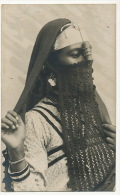 Real Photo Close Up Woman With Tchador Beautiful Card - Egipto