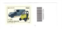 IL VEICOLO DEL PORTALETTERE 2013 € 0,85 CODICE A BARRE  Cod.fra.491 - Bar Codes